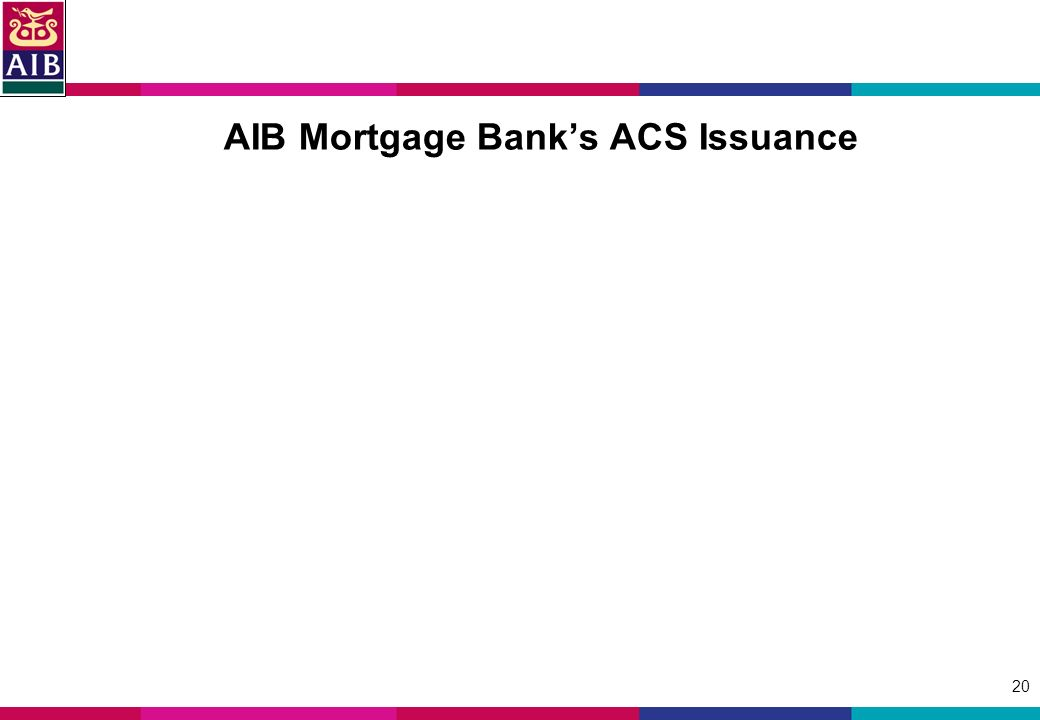 20 AIB Mortgage Banks ACS Issuance