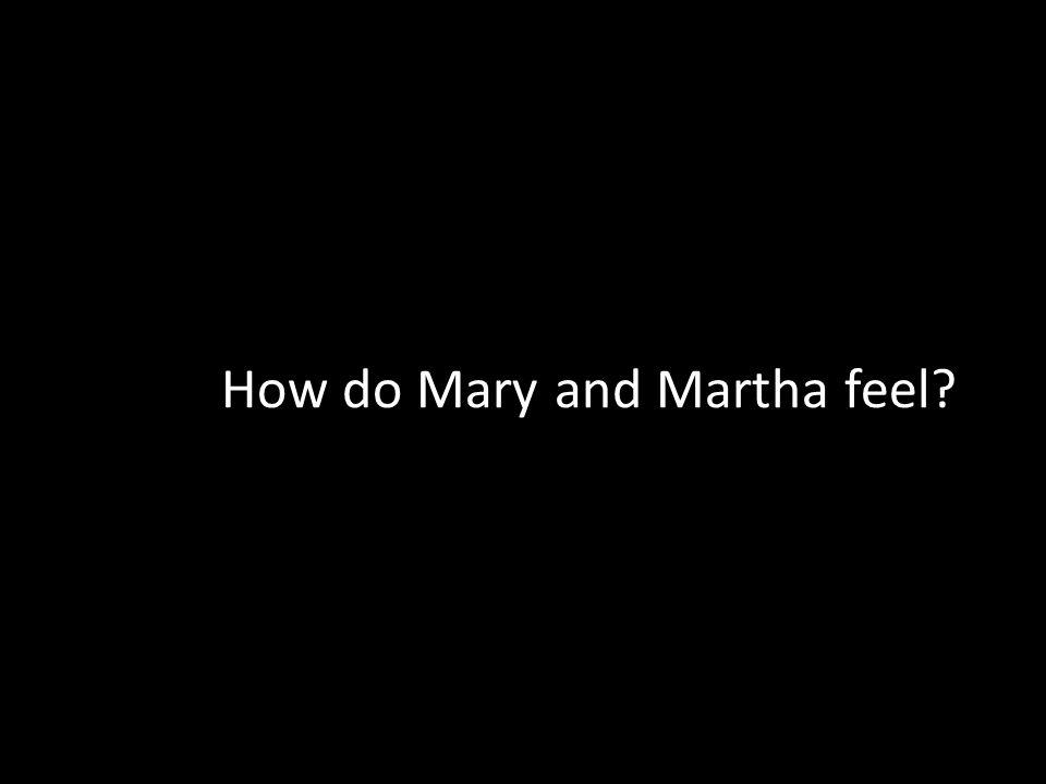 How do Mary and Martha feel?