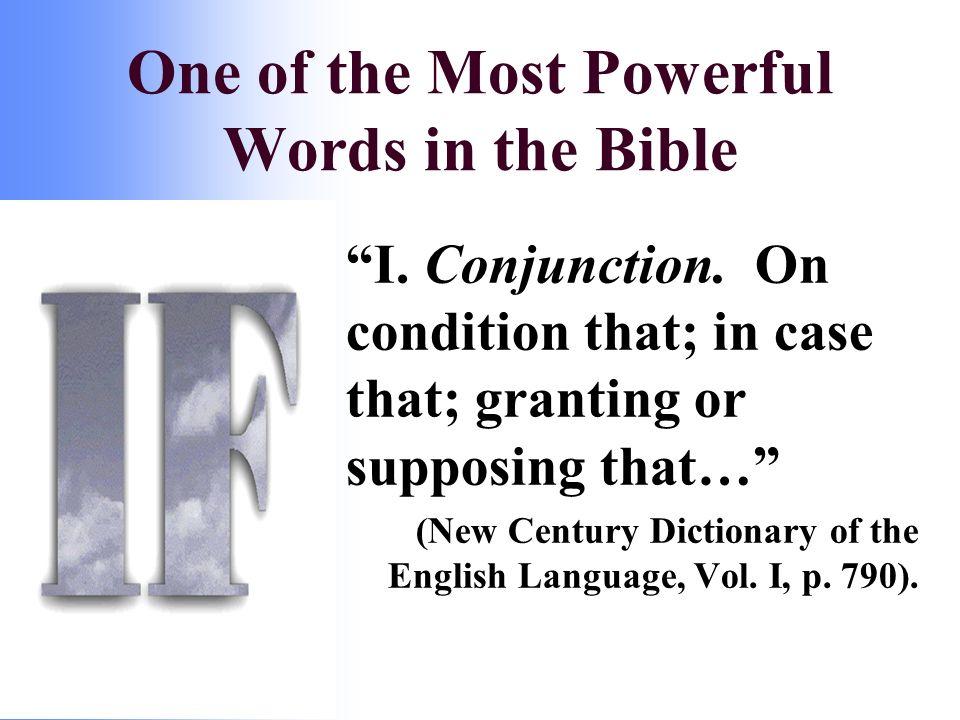I. Conjunction.