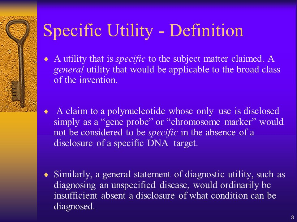 29 The claims lack a specific and substantial utility.