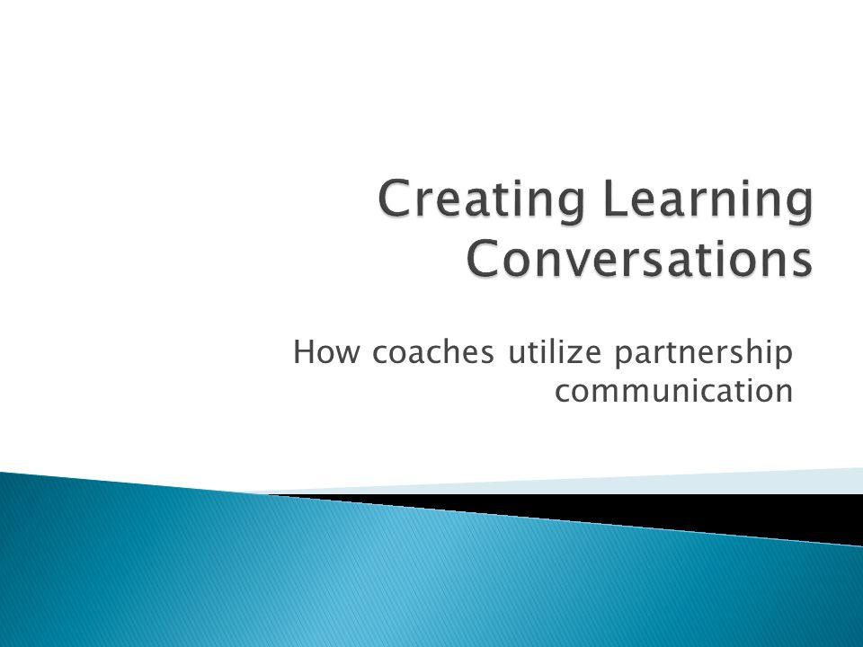 How coaches utilize partnership communication