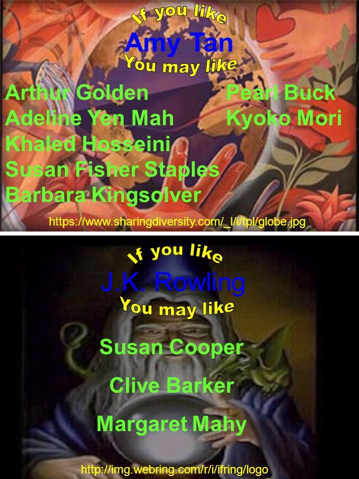 Amy Tan Arthur Golden Pearl Buck Adeline Yen Mah Kyoko Mori Khaled Hosseini Susan Fisher Staples Barbara Kingsolver https://www.sharingdiversity.com/_
