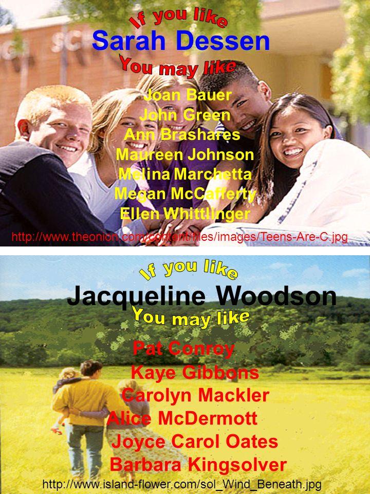 Pat Conroy Kaye Gibbons Carolyn Mackler Alice McDermott Joyce Carol Oates Barbara Kingsolver Jacqueline Woodson http://www.island-flower.com/sol_Wind_