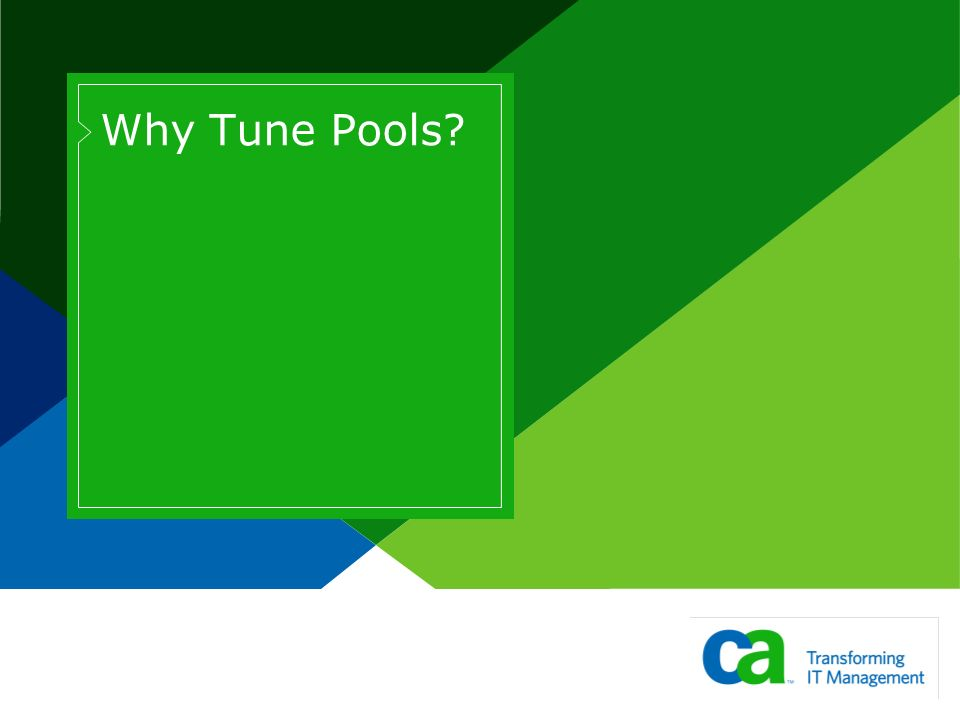 Why Tune Pools?