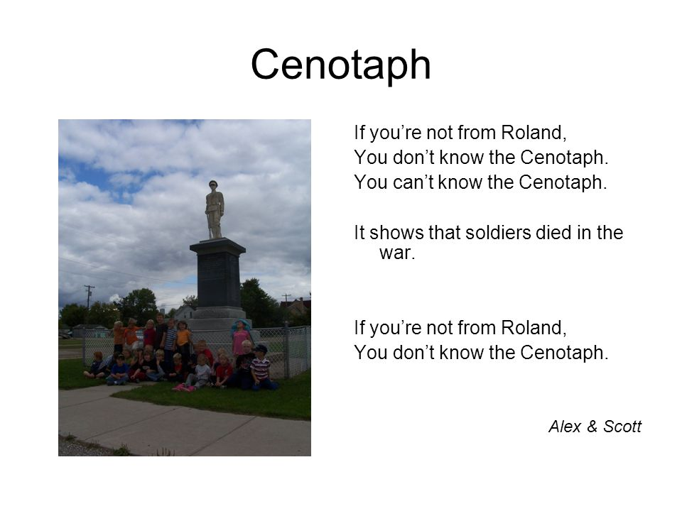 Cenotaph If youre not from Roland, You dont know the Cenotaph.