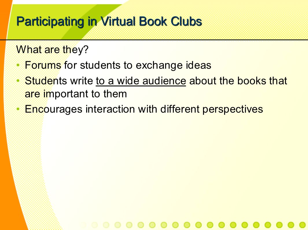 Participating in Virtual Book Clubs What are they.