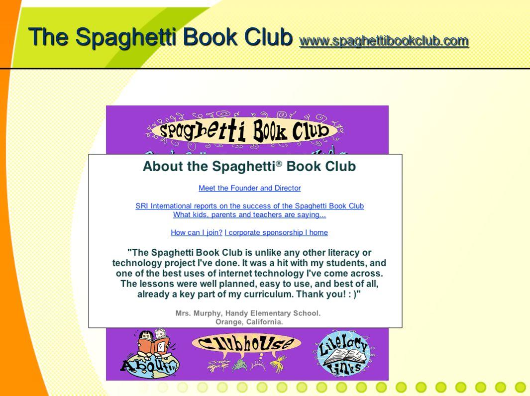 The Spaghetti Book Club www.spaghettibookclub.com www.spaghettibookclub.com