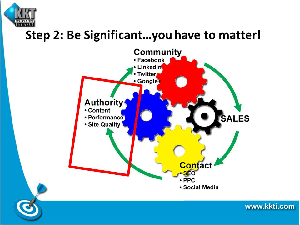 Step 2: Be Significant…you have to matter!