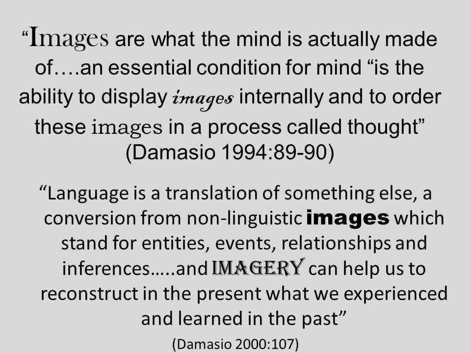 the question is no longer whether or not mental imagery facilitates learning but rather how it can best be used to produce the optimum facilitation (Alesandrini 1985:207)