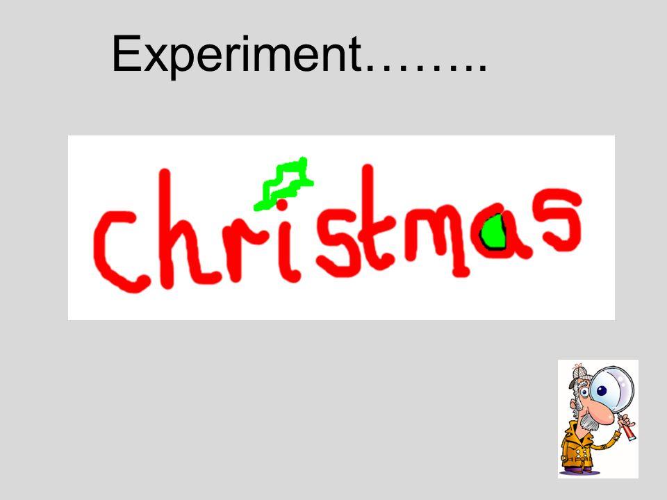 Experiment……..