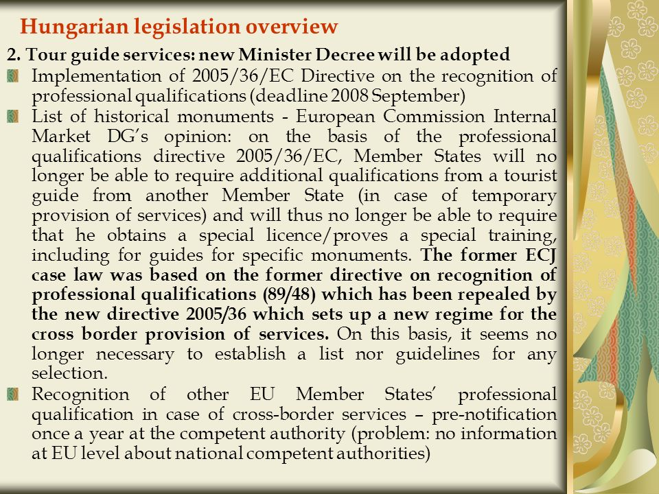 Hungarian legislation overview 2.