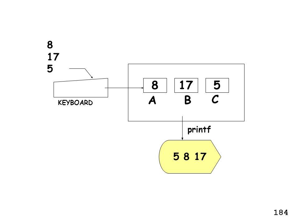 BA 178 5 8 17 KEYBOARD printf 8 17 5 5 C 184
