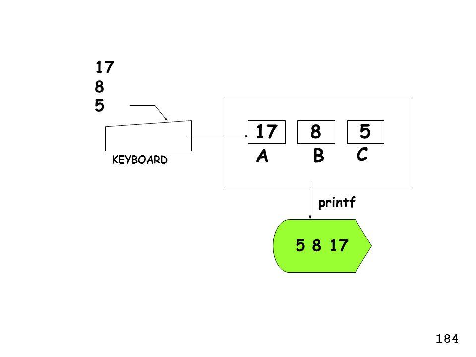 BA 817 5 8 17 KEYBOARD printf 17 8 5 5 C 184