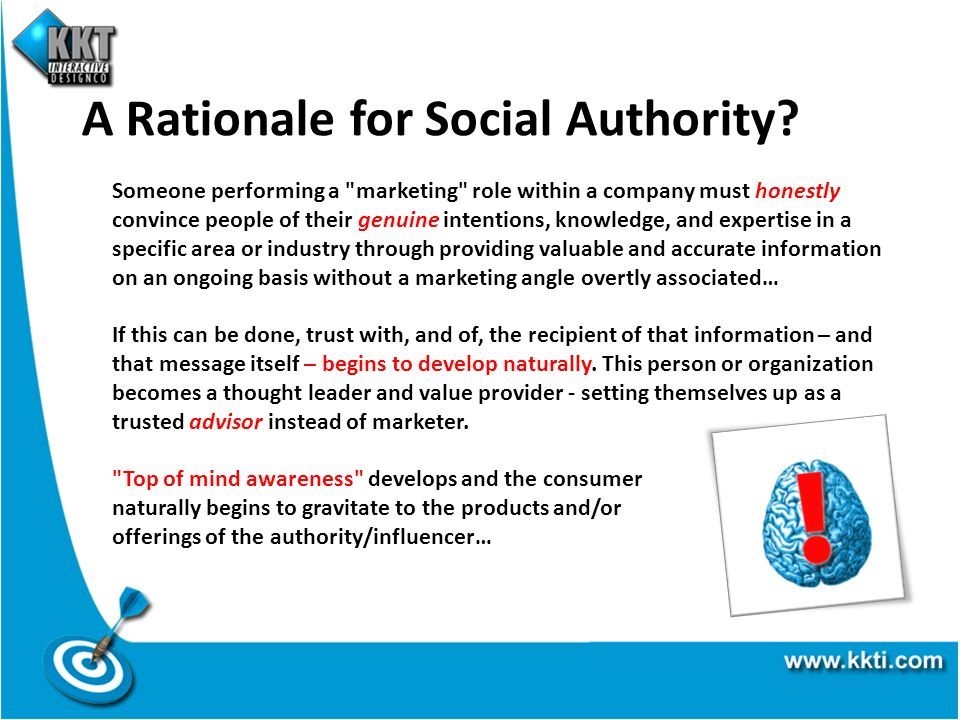 A Rationale for Social Authority? Someone performing a