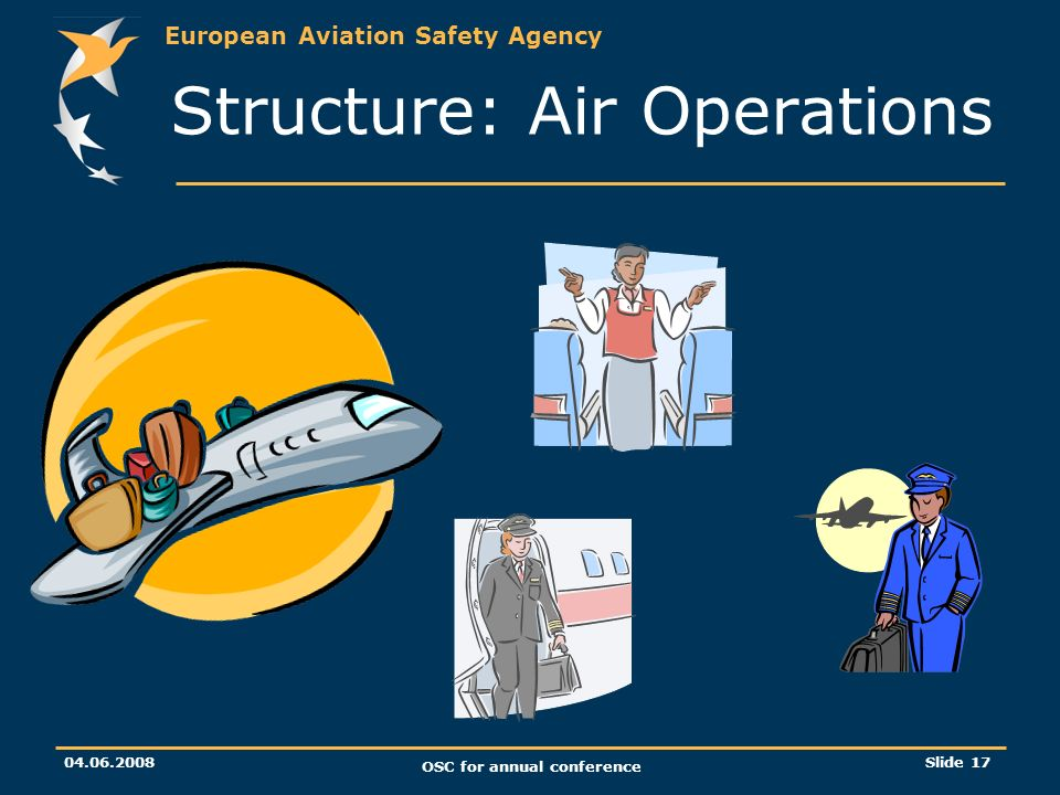 European Aviation Safety Agency OSC for annual conference Slide 17 Structure: Air Operations