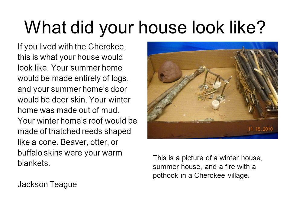 Did you go to school.If you lived with the Cherokee, you would not go to school in a building.