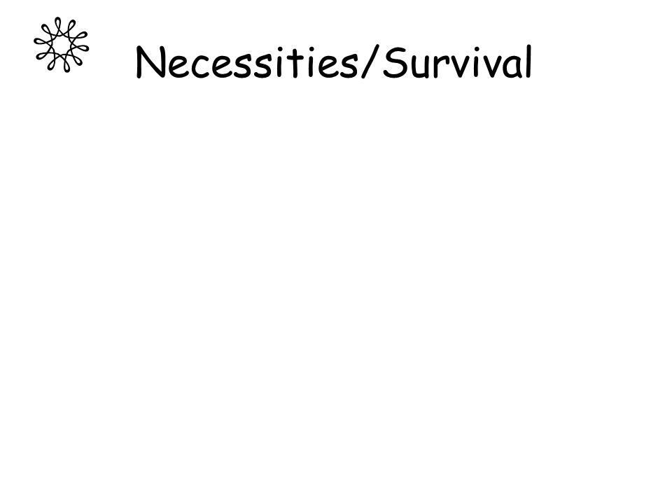 Necessities/Survival