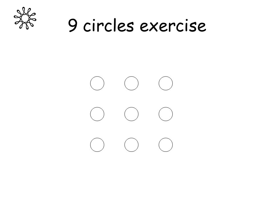 9 circles exercise