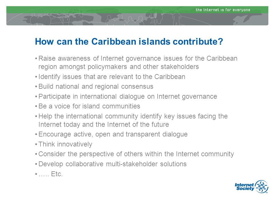 How can the Caribbean islands contribute.