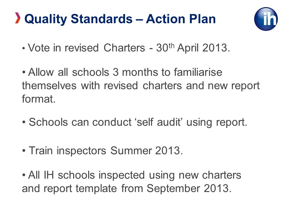 Vote in revised Charters - 30 th April 2013.