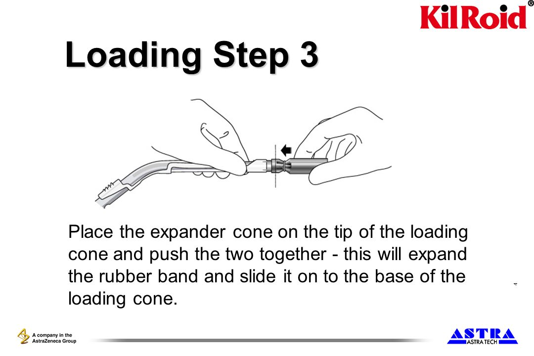 5 Loading Step 4 Withdraw the expander cone from the loading cone, rotate the expander cone through 180°.