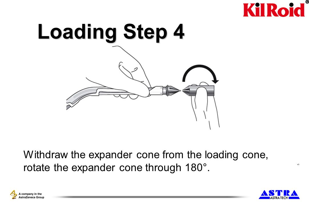 6 Loading Step 5 The open end of the expander cone is now present to the loading cone.