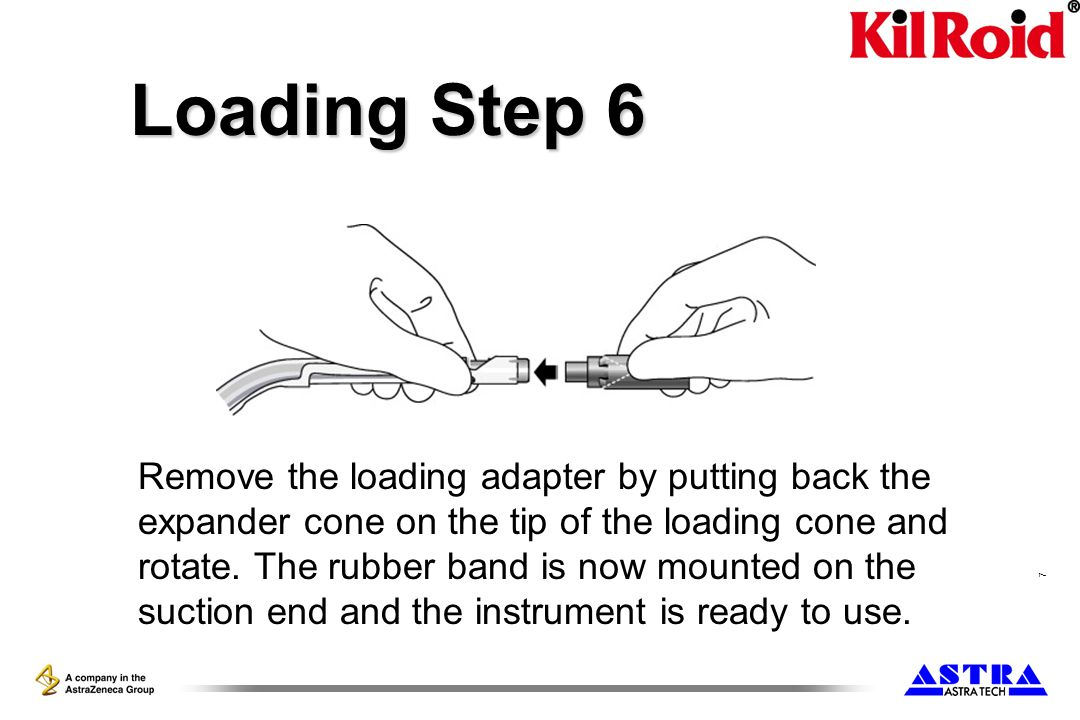 7 Loading Step 6 Remove the loading adapter by putting back the expander cone on the tip of the loading cone and rotate.