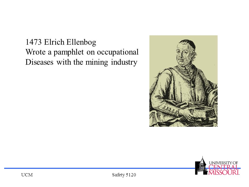 UCMSafety 5120 1473 Elrich Ellenbog Wrote a pamphlet on occupational Diseases with the mining industry