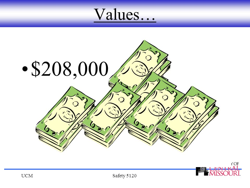 UCMSafety 5120 Values… $208,000