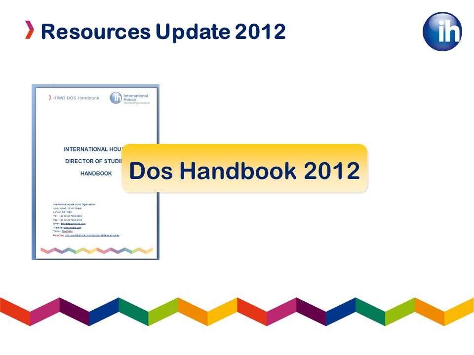Resources Update 2012 IH Brand Resources 8 Lessons All levels Complete lesson plans Powerpoint slides PDF Handouts