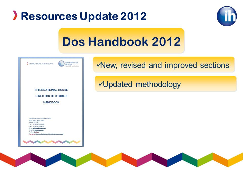 Resources Update 2012 LOWs and TOCs IH TOC 2012 2 conferences