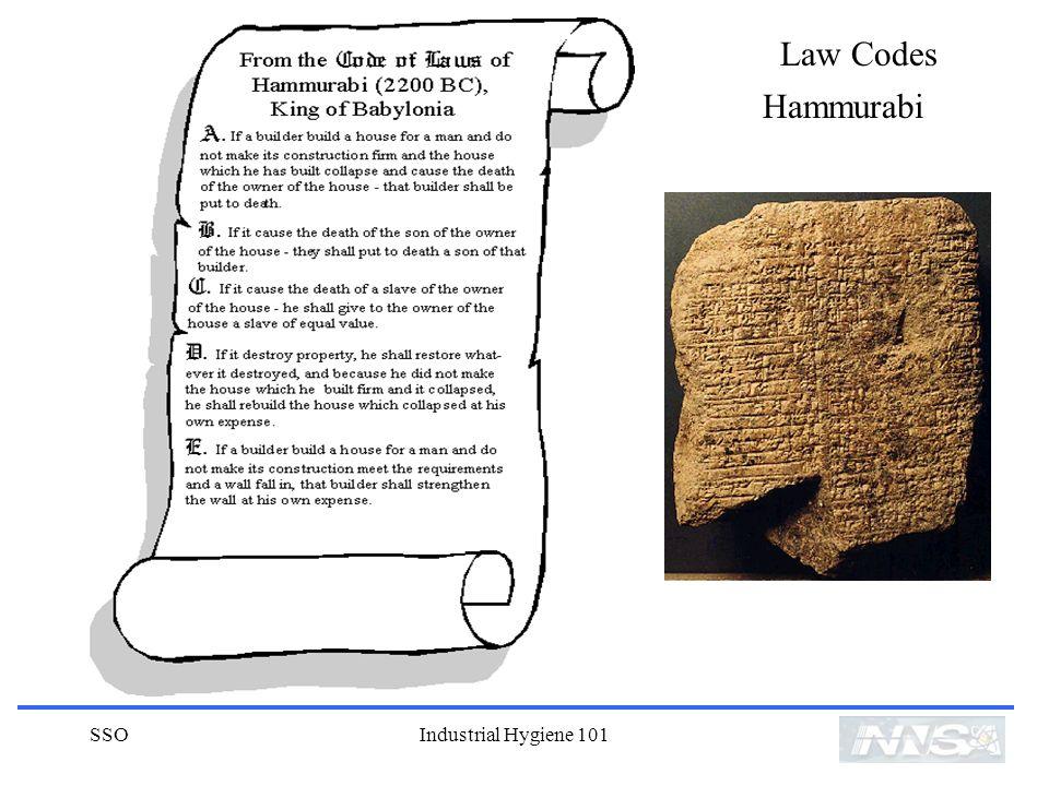 SSOIndustrial Hygiene 101 Law Codes Hammurabi