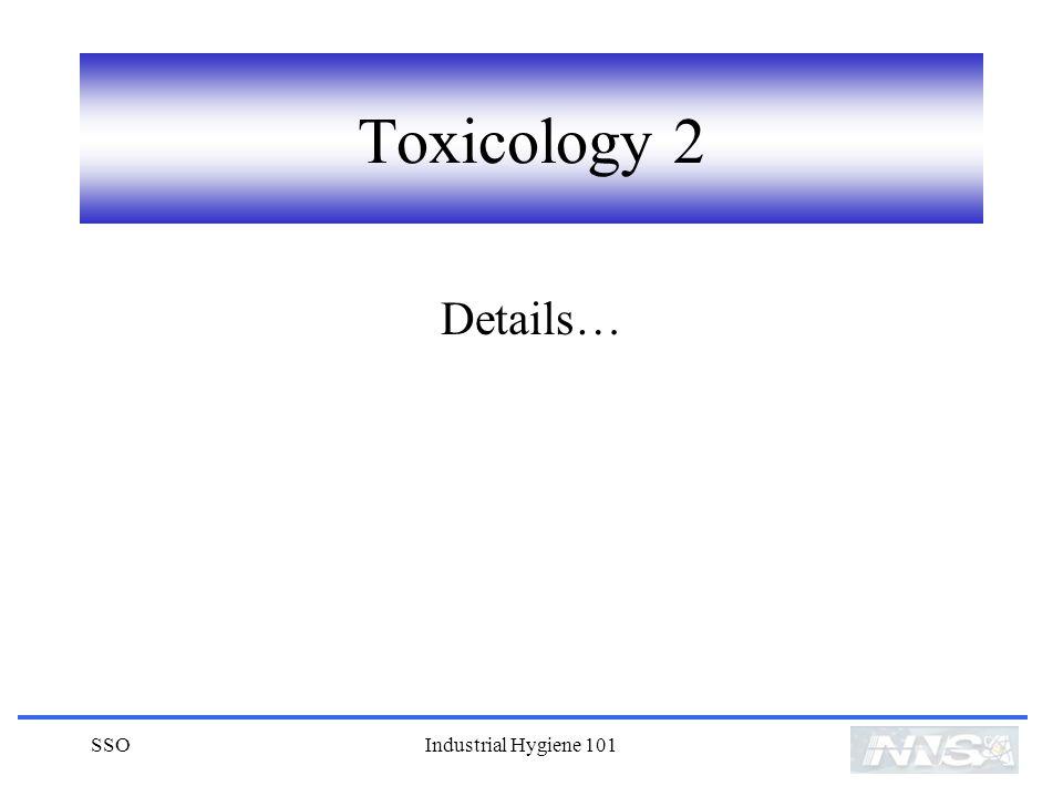 SSOIndustrial Hygiene 101 Toxicology 2 Details…
