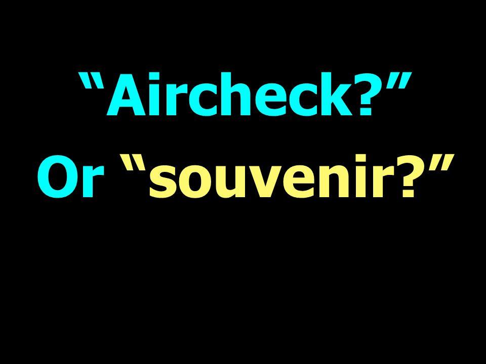 Aircheck Or souvenir