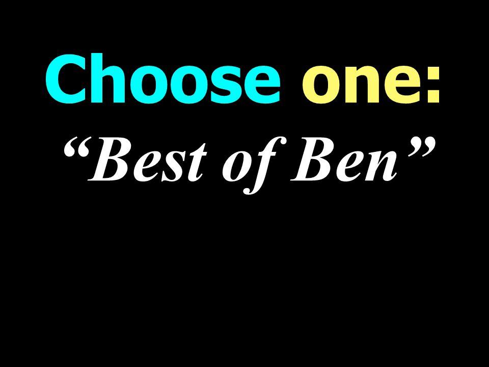 Choose one: Best of Ben WORST weekend Talk Radio Programming