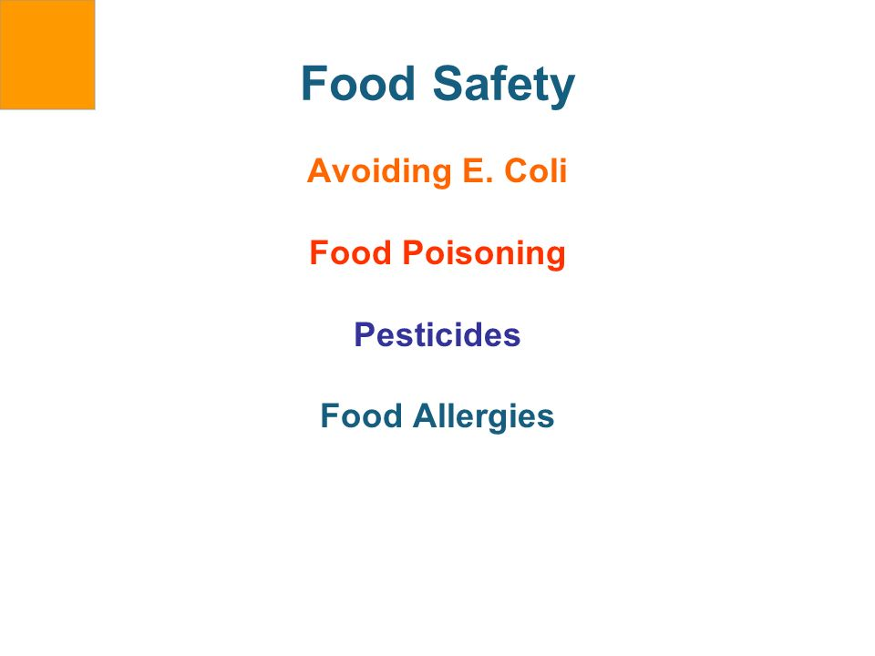 Food Safety Avoiding E. Coli Food Poisoning Pesticides Food Allergies