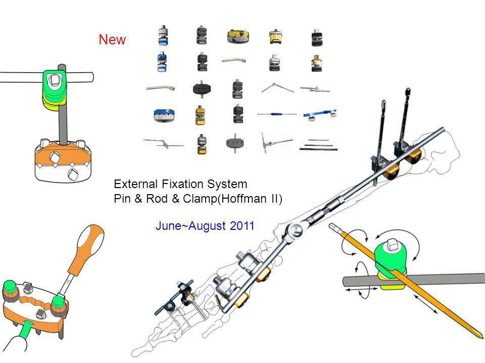 New June~August 2011 External Fixation System Pin & Rod & Clamp(Hoffman II)