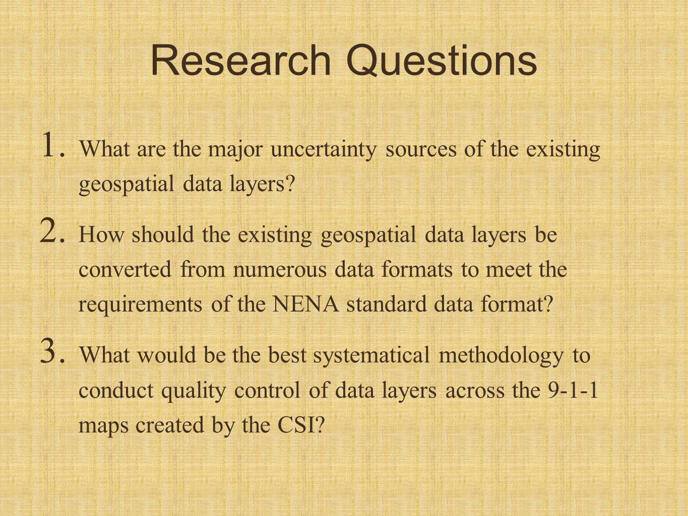 Research Questions 1.