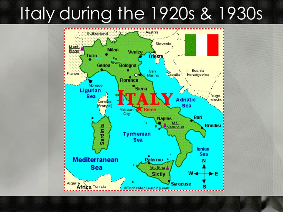 Italy during the 1920s & 1930s