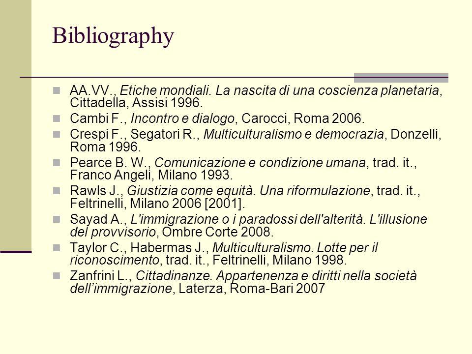 Bibliography AA.VV., Etiche mondiali.
