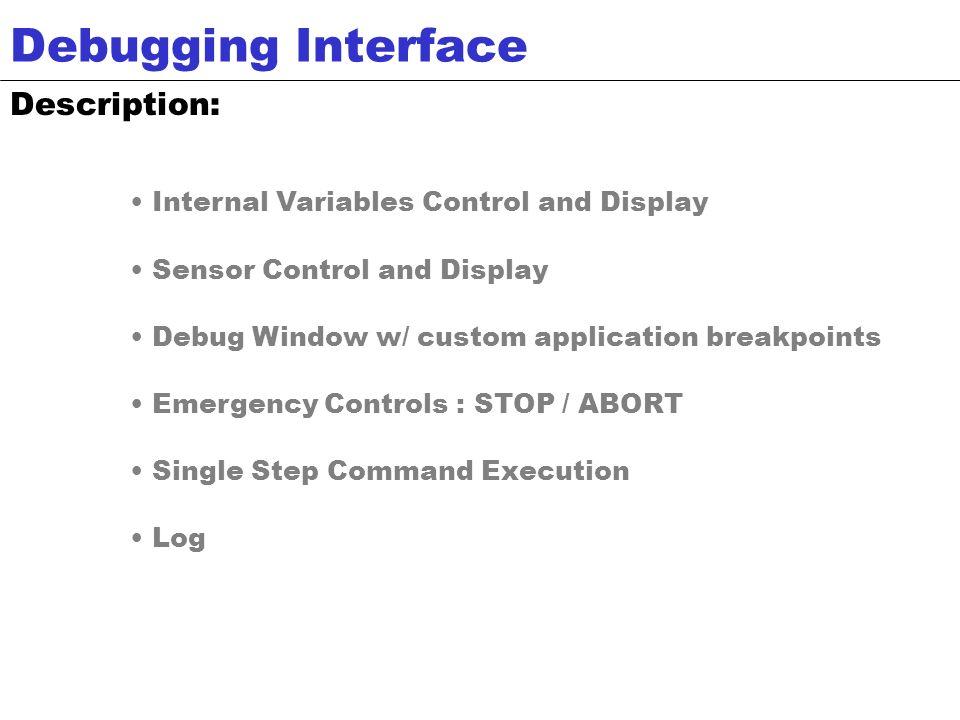 Screenshot of Visual Basic Debugging Interface Debugging Interface
