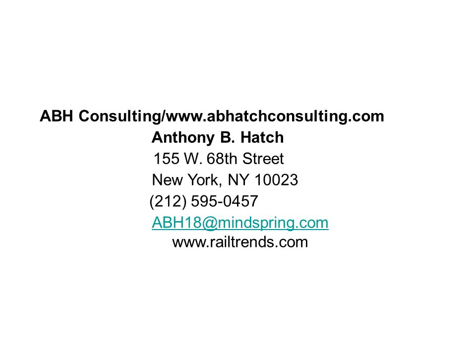 www.abhatchconsulting.com ABH Consulting/www.abhatchconsulting.com Anthony B.