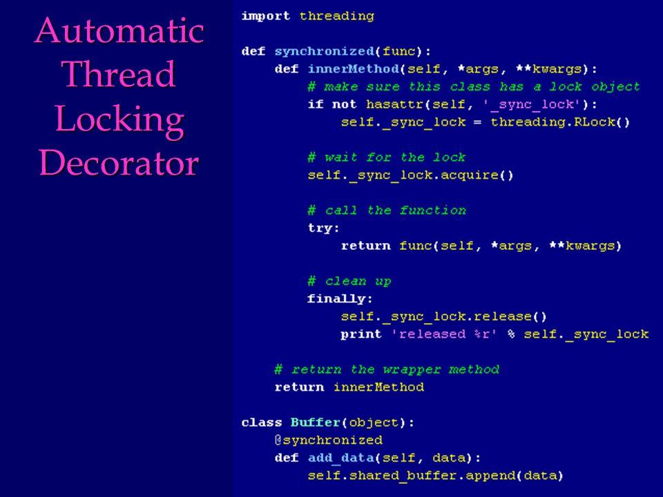 Automatic Thread Locking Decorator