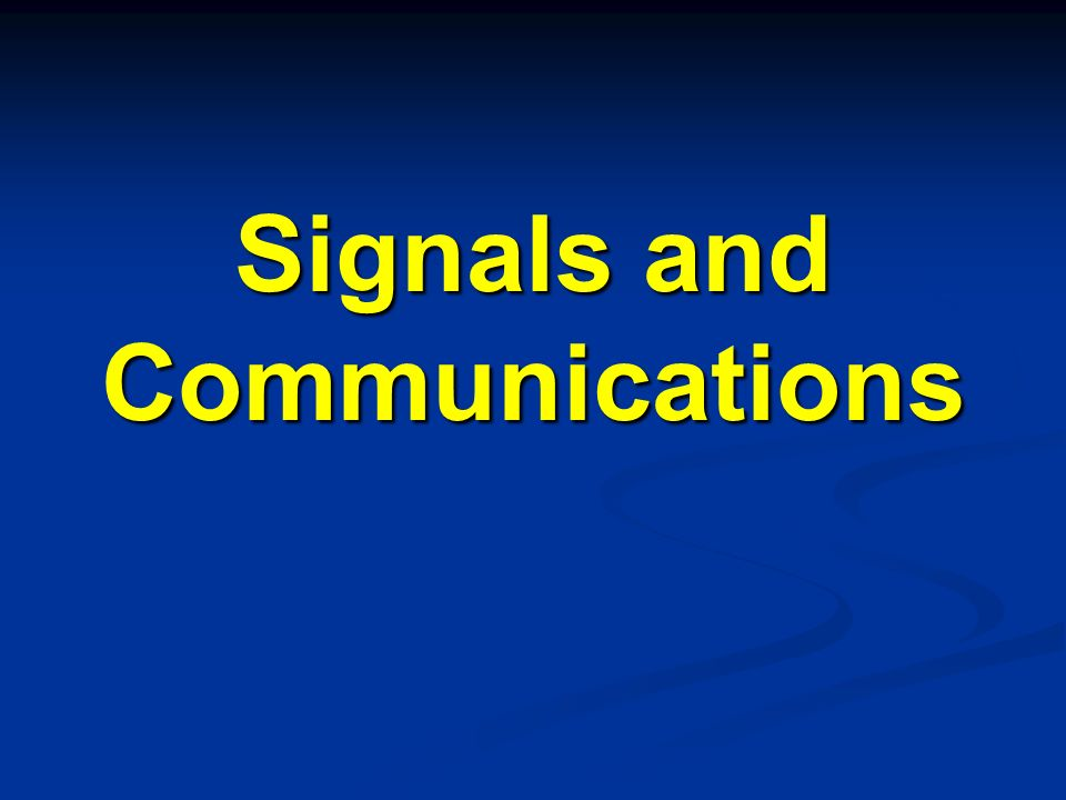 Signals and Communications