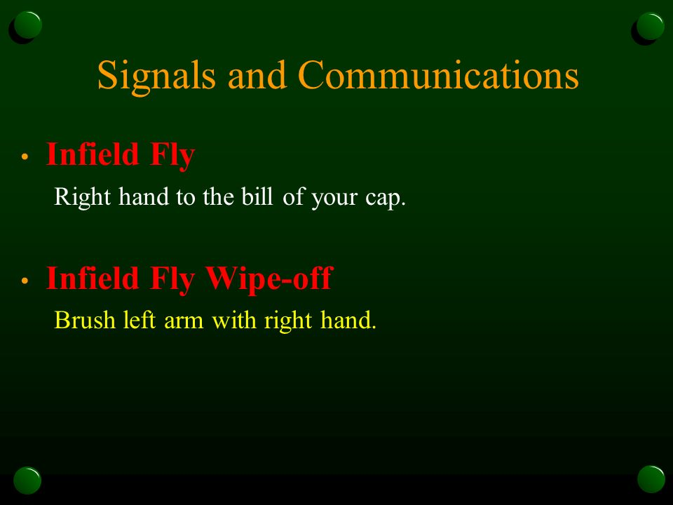 Miscellaneous Coverages Calling Fair or Foul Always call and signal a foul ball.