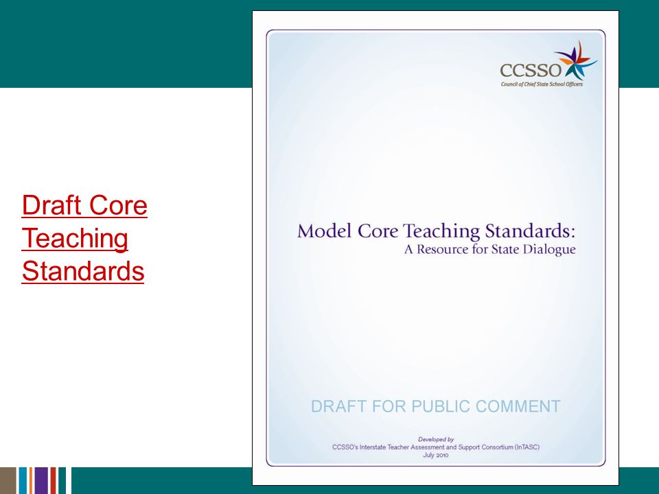 Draft Core Teaching Standards