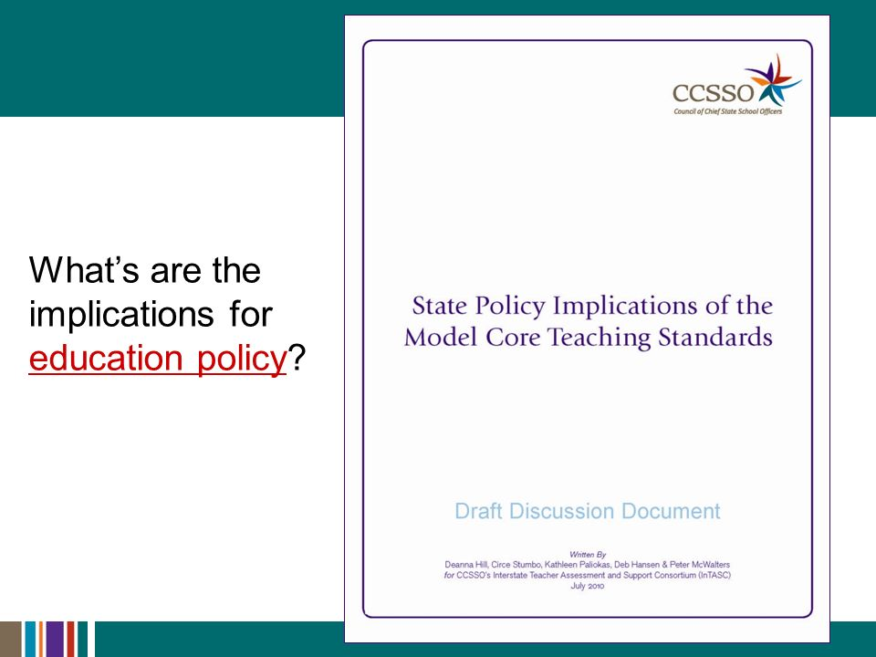 Whats are the implications for education policy? education policy
