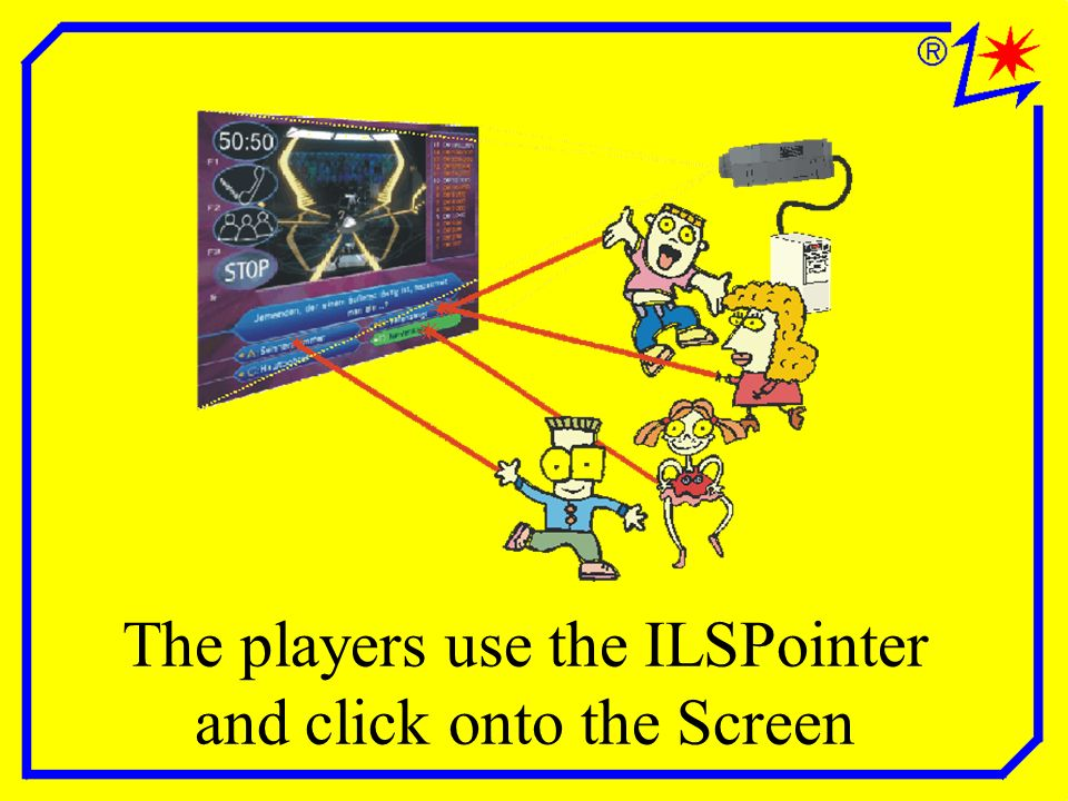 The players use the ILSPointer and click onto the Screen