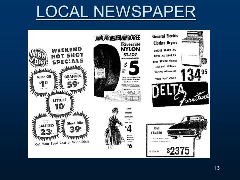 13 LOCAL NEWSPAPER