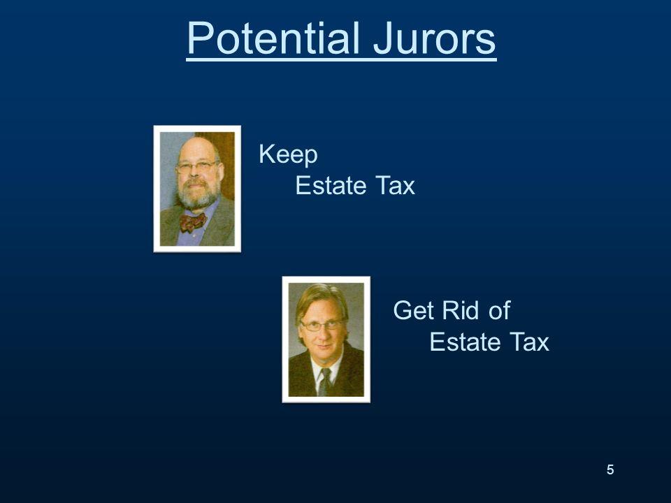 5 Potential Jurors Keep Estate Tax Get Rid of Estate Tax